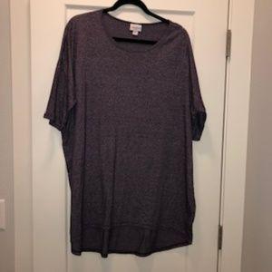 LuLaRoe Irma Shirt Purple Heather XL